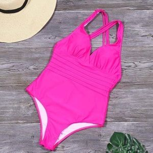 Hot Pink one piece Swimsuit (12-14)